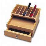 Wood Plier Rack with Drawer