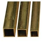 "Square Tube,Brass-1/4"" Wide squared, 12""length .014 Wall"