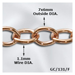 Copper Cable Chain-Soldered