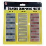 "3pc Diamond Sharpening Block Set (6"" x 2"") 150, 300, 450 Grit"