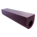 purple flat tube 1""