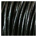 1MM Black Indian Leather Cord (25yds)